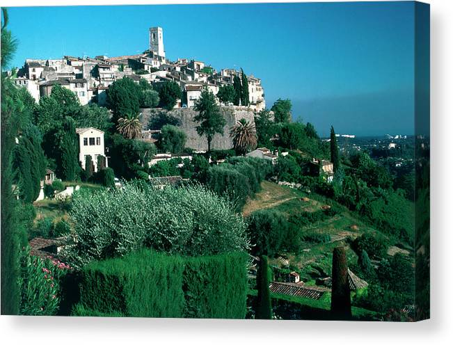 1980-1989 Canvas Print featuring the photograph St. Paul De Vence by Slim Aarons