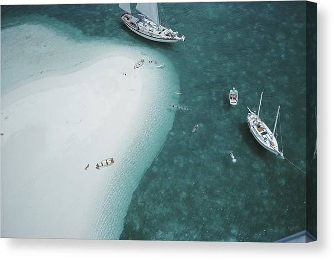 People Canvas Print featuring the photograph Stocking Island, Bahamas by Slim Aarons