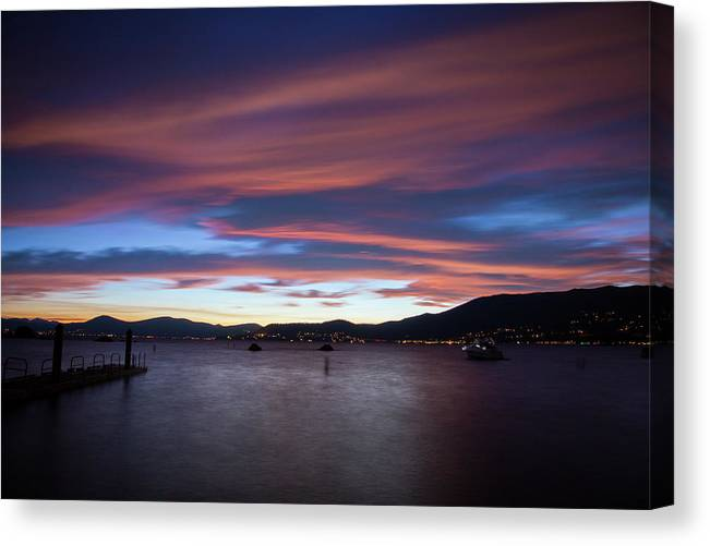 Sunset Canvas Print featuring the photograph Tahoe at Sunset by Fred DeSousa