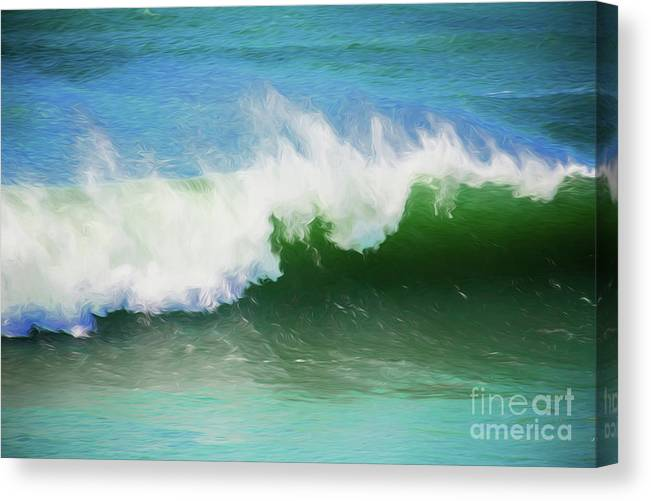 Surf Canvas Print featuring the photograph Crashing surf by Sheila Smart Fine Art Photography