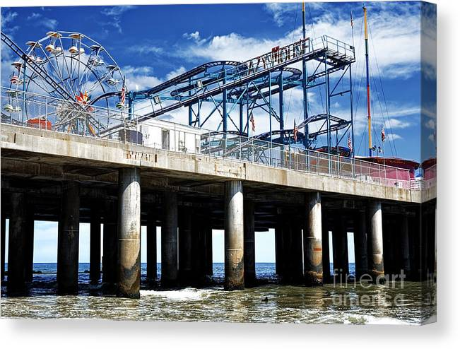 Crazy Mouse Canvas Print featuring the photograph Crazy Mouse on the Steel Pier in Atlantic City by John Rizzuto