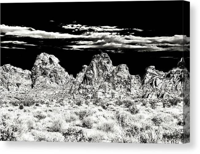 Formations At The Valley Of Fire Canvas Print featuring the photograph Formations at the Valley of Fire by John Rizzuto