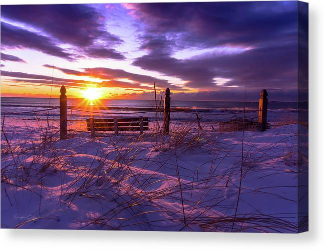 Winter purple sunrise by Douglas Curtis