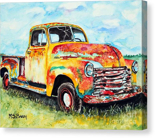 Rusty Old Truck by Maria Barry