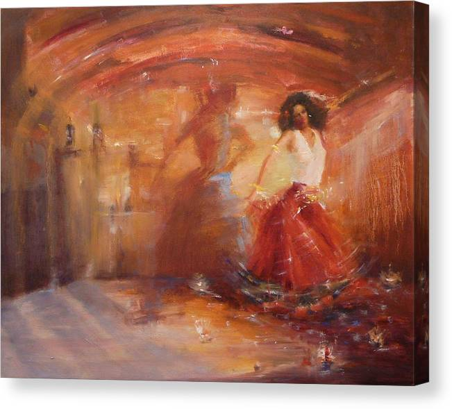 Dance Canvas Print featuring the painting SOLD Bohemian by Irena Jablonski