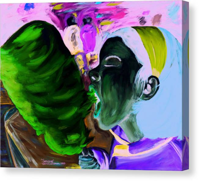 Kevin Callahan Canvas Print featuring the painting Simone by Kevin Callahan