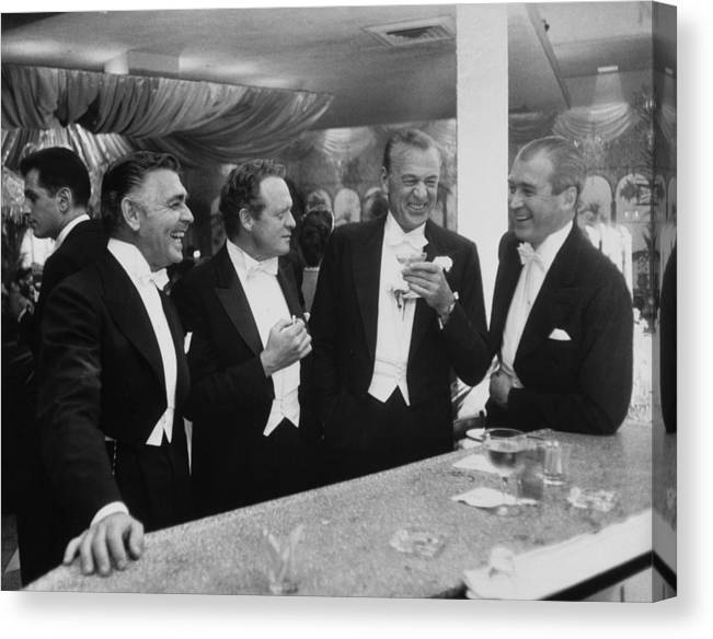 Jimmy Stewart Canvas Print featuring the photograph Kings Of Hollywood by Slim Aarons
