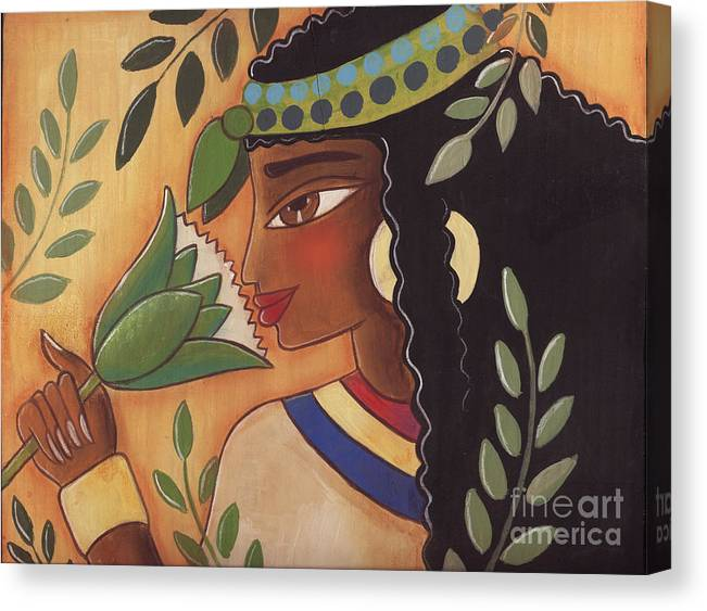 Ancient Egyptian Canvas Print featuring the painting Ancient Egyptian Belle by Elaine Jackson