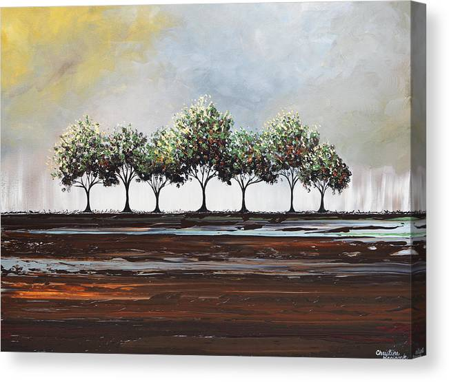 Green Canvas Print featuring the painting Beauty After the Storm by Christine Bell