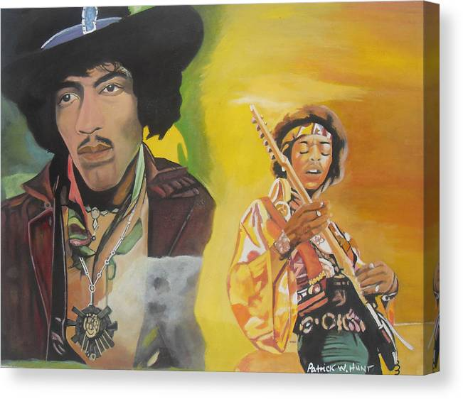 Jimmy Hendrix Canvas Print featuring the painting Jimmy Hendrix by Patrick Hunt