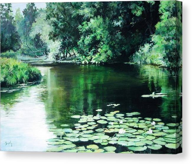 Landscape Canvas Print featuring the painting Their Spot by William Brody