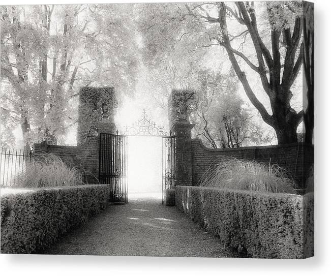 Garden Canvas Print featuring the photograph Garden Gate by Michael Hudson