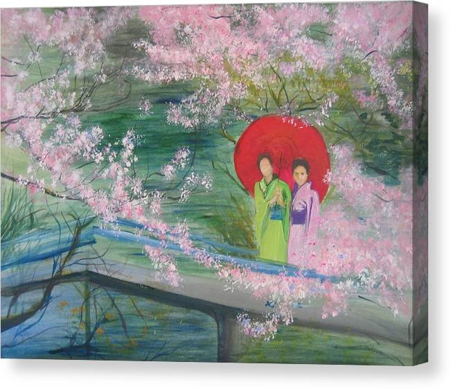 Geishas and Cherry Blossom by Lizzy Forrester