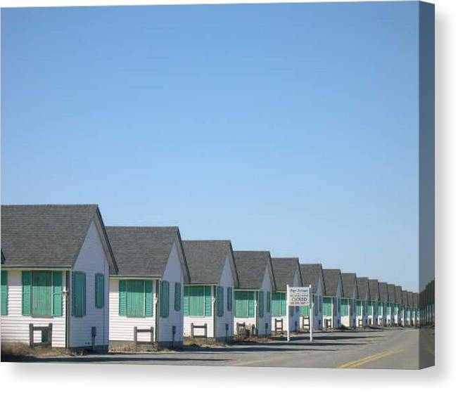 Cottages Canvas Print featuring the photograph Perspective to P-Town by Rebecca Marona