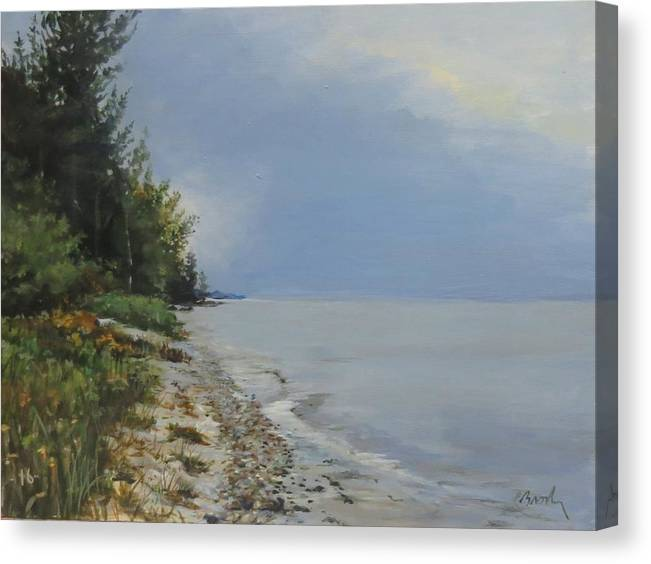 Lake Huron Canvas Print featuring the painting Places We've Been by William Brody