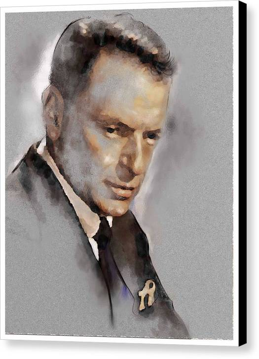 Franky Canvas Print featuring the painting Sinatra by James Robinson