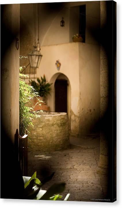 Italy Canvas Print featuring the photograph Sangimignano 1 by Luigi Barbano BARBANO LLC