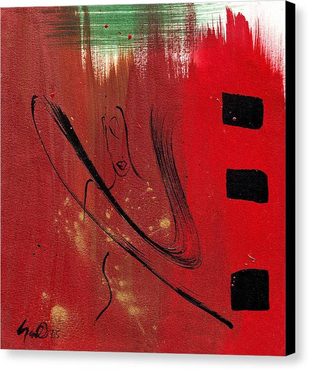 Abstract Canvas Print featuring the mixed media Inspiration by Simone Fennell