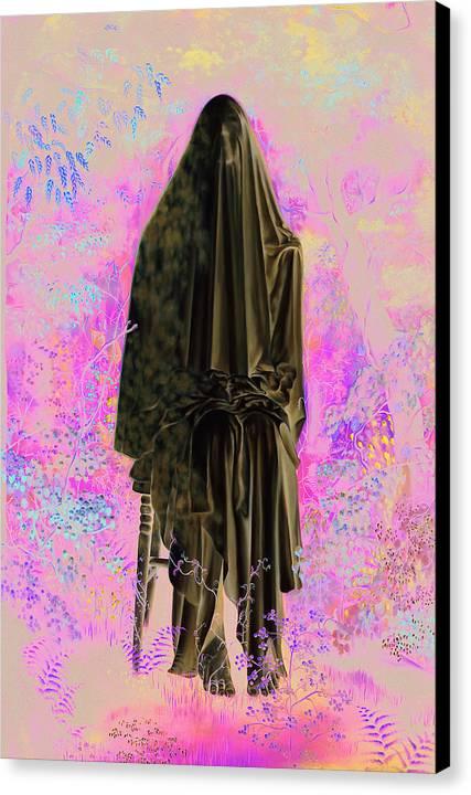 Portrait Canvas Print featuring the painting L Espoir by Helene Fleury