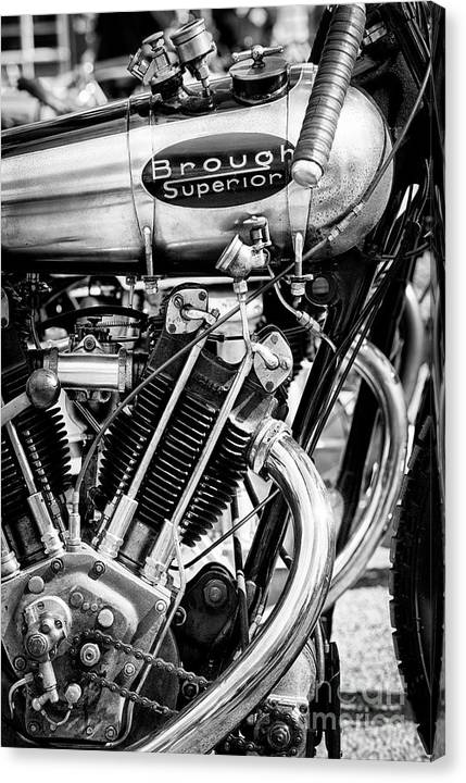 1924 Brough Superior KTOR Brooklands Racer Monochrome by Tim Gainey