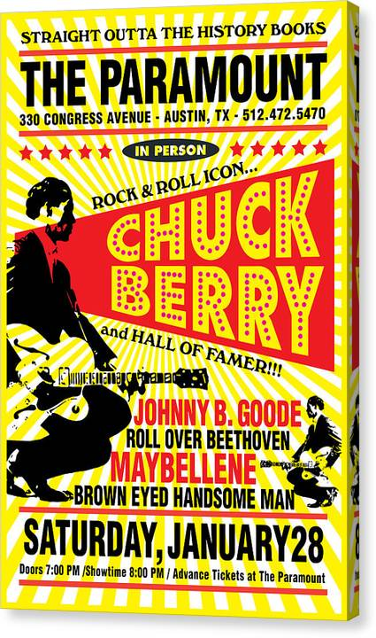Chuck Berry Two Canvas Print