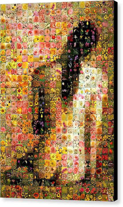 Mosaic Canvas Print featuring the digital art Nude Back by Gilberto Viciedo