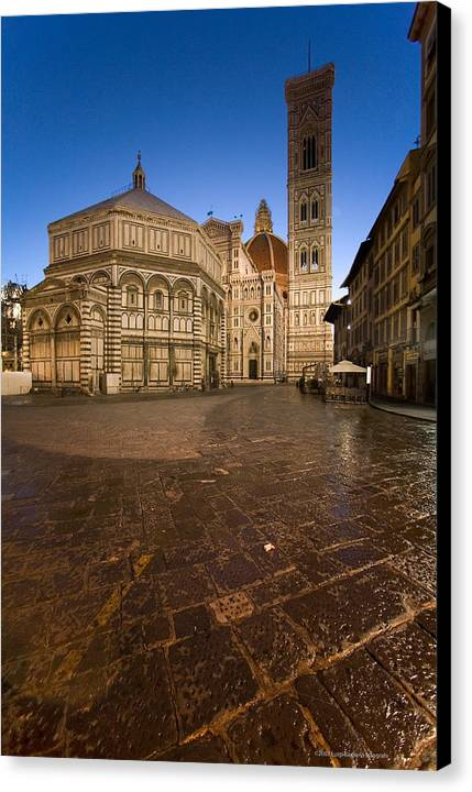 Italy Canvas Print featuring the photograph Sunrise In Florence 2 by Luigi Barbano BARBANO LLC