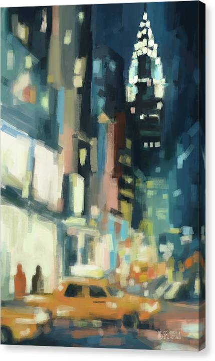 View Across 42nd Street New York City by Beverly Brown