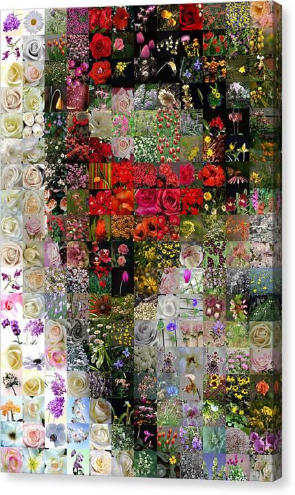 Mosaic Canvas Print featuring the digital art Venetian Mask by Gilberto Viciedo