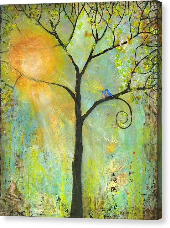Hello Sunshine Tree Birds Sun by Blenda Studio