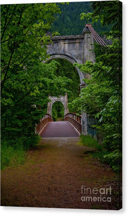 Bridge Canvas Print featuring the photograph Old Alexandra Bridge by Rod Wiens