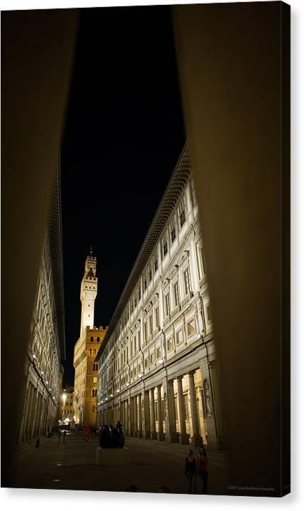 Italy Canvas Print featuring the photograph Uffizi by Luigi Barbano BARBANO LLC