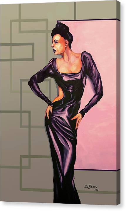 Ms Jane: Original Creation By Lloyd Deberry Canvas Print featuring the painting MS Jane by Lloyd DeBerry