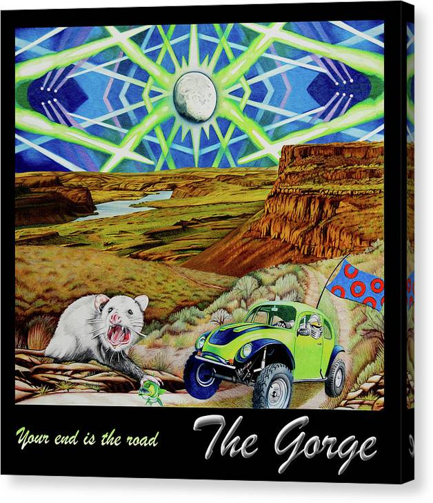 62cdd604c92 Phish Canvas Print featuring the drawing Phish At The Gorge by Joshua Morton