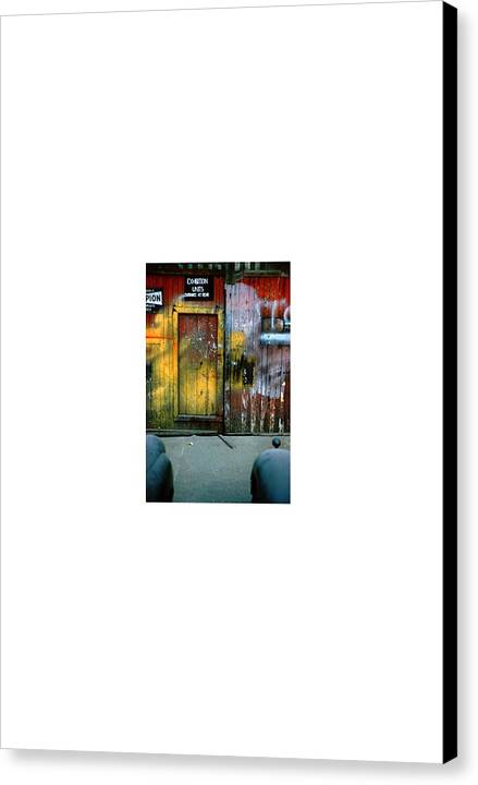 Collage Abstract Canvas Print featuring the photograph Streetart...nearfull by David M Davis