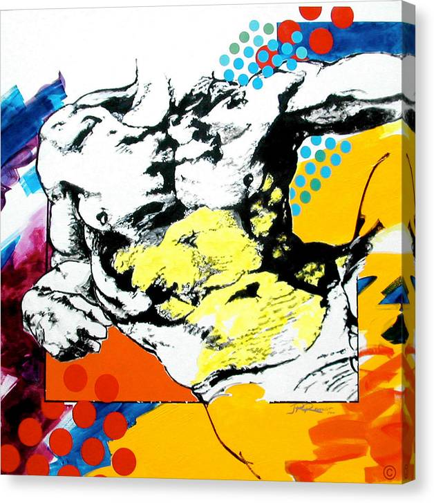 Pop Canvas Print featuring the painting Adam by Jean Pierre Rousselet