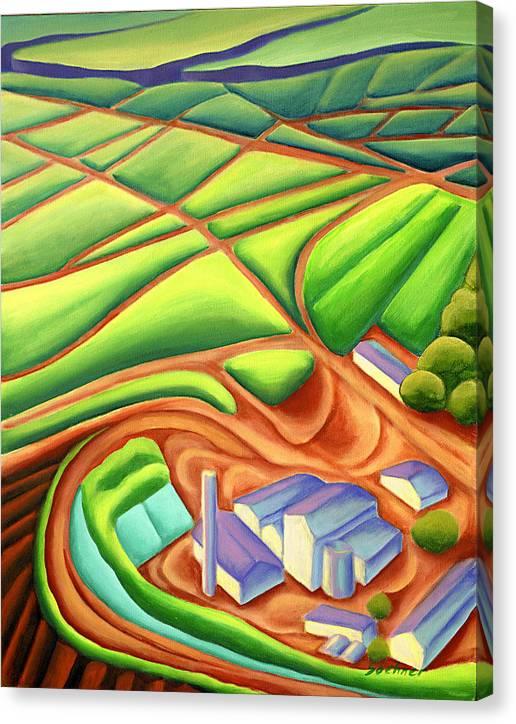 Hawaiian Landscape Canvas Print featuring the painting Sugar Mill by Lynn Soehner
