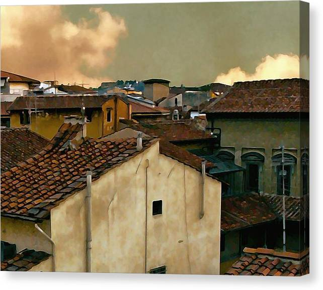 Limited Time Promotion: Lucca At Dusk Stretched Canvas Print