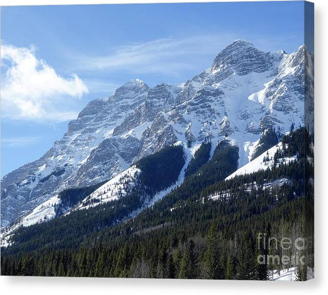 Limited Time Promotion: Mount Kidd Stretched Canvas Print