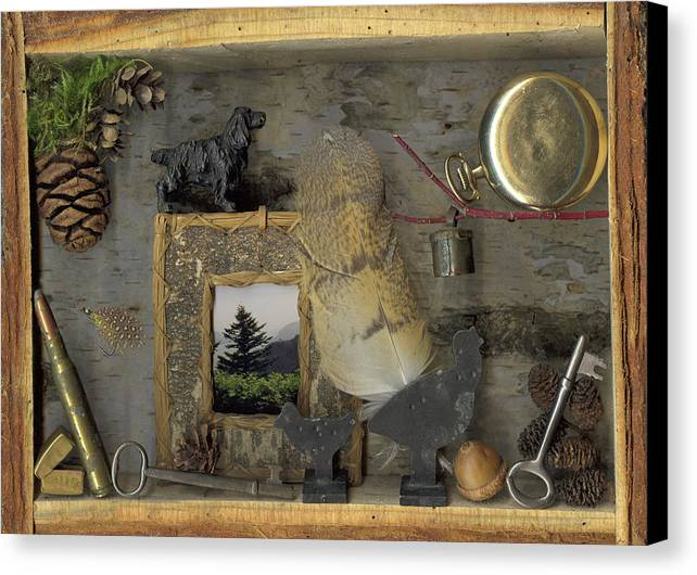 Antiques Canvas Print featuring the mixed media Memories by Sandi F Hutchins