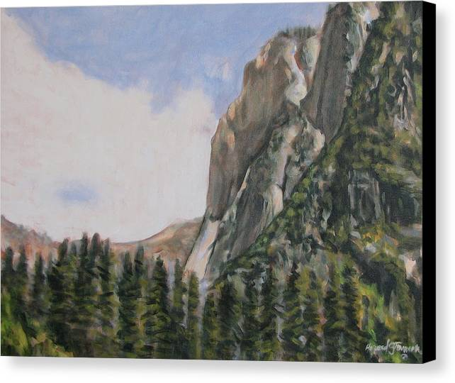 Landscape Canvas Print featuring the painting One Flight Up by Howard Stroman
