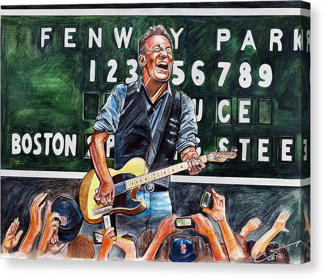 Bruce Springsteen at Fenway Park by Dave Olsen