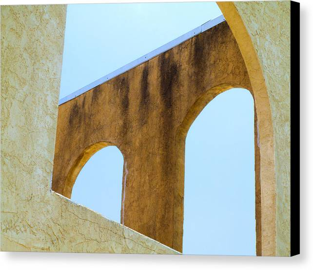 Canvas Print featuring the photograph Blue Arches by Ross Odom