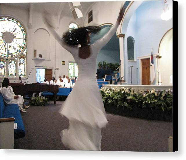 Praise Dance Canvas Print featuring the photograph Praise by Howard Stroman