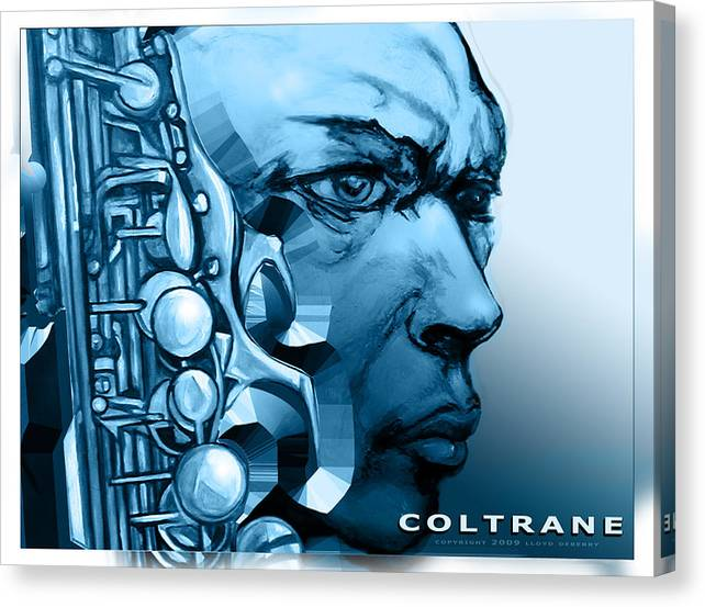 John Coltrane Print Canvas Print featuring the painting Coltrane by Lloyd DeBerry
