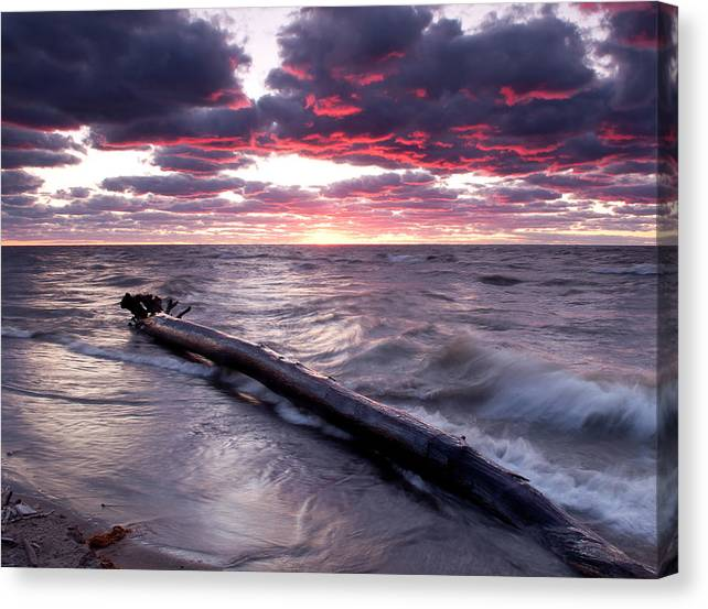 3x4 Canvas Print featuring the photograph Drama Over Lake Erie by At Lands End Photography