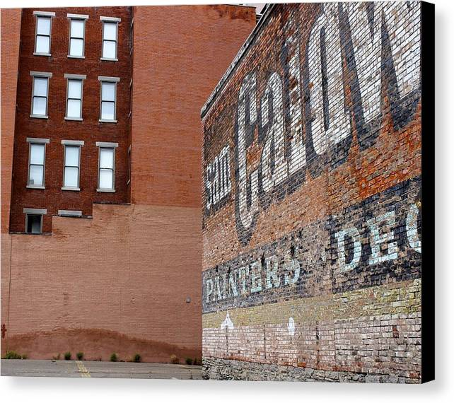 Downtown Buildings Canvas Print featuring the photograph Painters by MK Rhea