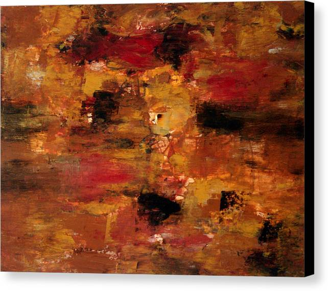 Abstract Art Canvas Print featuring the painting I Thought It Was Over by Shiree Gilmore