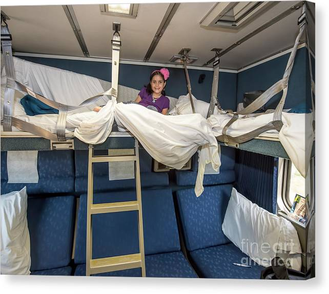 Bedroom On Amtrak: Amtrak Family Bedroom Sleeper Canvas Print / Canvas Art By