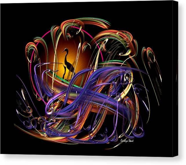 Abstract Canvas Print featuring the digital art The Promise by Carolyn Staut